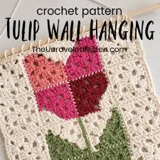 Pdf pattern wall hanging decor pattern wall decor pattern   etsy. Spring Crochet Wall Hanging Pattern The Unraveled Mitten