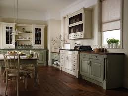 Wooden Floor In Kitchen Vintage Kitchen Ideas With Wood Floor With Black Cabinet Kitchen