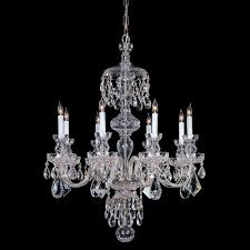 crystorama traditional crystal 8 light crystal chrome chandelier iv