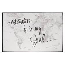 adventure is in my soul map canvas wall decor