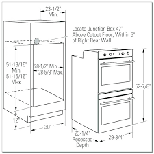 built in oven cabinet dimensions wall depth height double corner sizes kitchen
