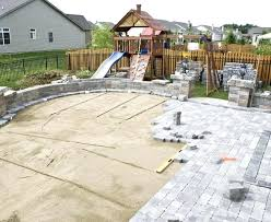 patio and stone design installation for st paver designs with fireplace deck
