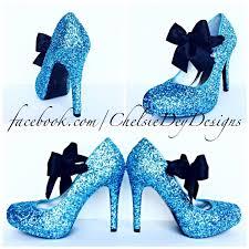 Light Blue Glitter Heels Glitter High Heels Light Blue Pumps Aqua Turquoise Ice