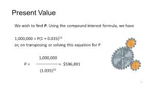 present value we wish to find p