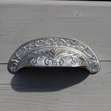 cup drawer pulls. Ornate Cup Drawer Pull In Silver Metal Pulls