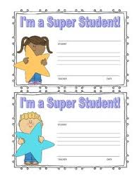 Star Student Certificates Super Star Student Certificate