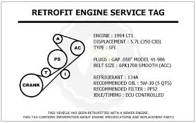 1994 lt1 engine diagram 1994 image wiring diagram 1994 lt1 5 7l corvette retrofit engine service tag belt routing on 1994 lt1 engine diagram