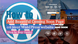 How To Create A Beautiful Coming Soon Landing Page On Your