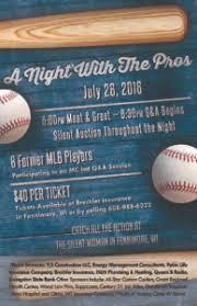 Baseball Brochure Template Baseball Camp