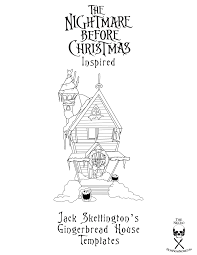 christmas house template nightmare before christmas jack skellington gingerbread