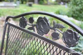 spray paint patio furniture our vintage wrought iron patio set lehman lane