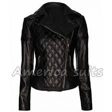 Quilted Biker Leather Jacket & Women Quilted Biker Leather Jacket Adamdwight.com