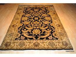 new elegant rug black background 5 x 8 traditional carpet