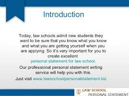Law school personal statements