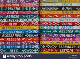 Pattern Names Adorable Colorful Bracelets With Names A Typical Italian Souvenir Useful As