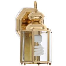 progress lighting brass guard collection 5 5 inch polished brass outdoor wall lantern