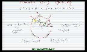 math laws fsc math book1 ch 10 lec 2 fundamental law of trigonometry part 2