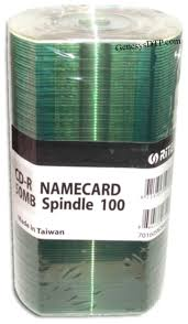 Name Card Mesmerizing GenesysDTP Ritek 44Min 44X ShinySilver Business Card Mini CDR's