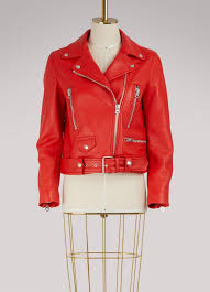 acne studios jackets womens mock jacket red