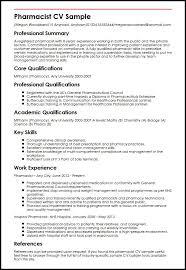 Pharmacist Cv Sample Pharmacist Resume Example As Professional