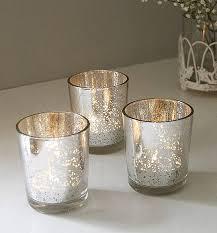 silvered tea light holder candles home fragrance