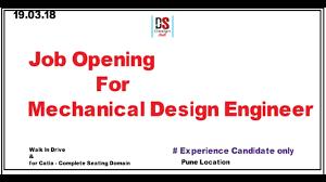 Mechanical Design Domains Job Opening For Mechanical Design Engineer