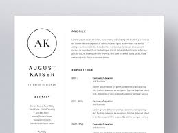 Resume Cv Template Simple August Kaiser ResumeCV Template Resume Templates Creative Market