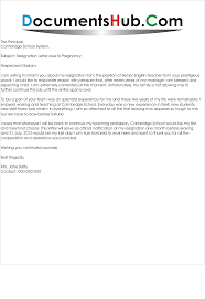 Pregnancy Resignation Letter Resignation Letter due to Pregnancy DocumentsHubCom 1