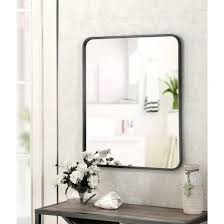 Framed modern mirror Brushed Nickel Reflect Your Chic Style With This Metal Framed Wall Mirror From Project 62 This Large Modern Mirror Is Easy To Mount On The Wall And Can Be Hung Either Etsy Reflect Your Chic Style With This Metal Framed Wall Mirror From