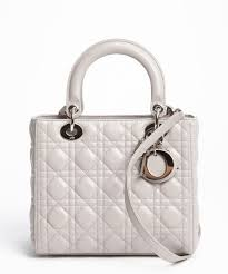 Lyst - Dior Grey Cannage Quilted Lambskin Lady Dior Medium ... & Gallery Adamdwight.com