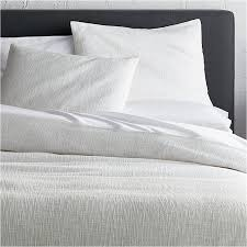 crate and barrel exclusive lindstrom white duvet covers and pillow shams