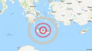 Terremoto a Creta oggi: scossa di magnitudo 5.3