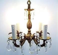 brass chandelier vintage old brass chandelier small brass crystal four light chandelier petite crystal chandelier bathroom
