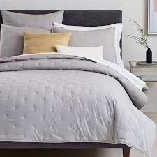 Modern Quilts & Coverlets | west elm & Organic Washed Cotton Quilt + Shams ... Adamdwight.com