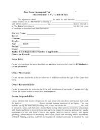 Basic Lease Agreement Horse Template Printable Free Basic Lease Agreement Rental