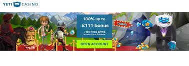 yeti 23 free spins no deposit bonus