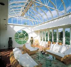 conservatory lighting ideas. white decorated conservatory with circle window lighting ideas v