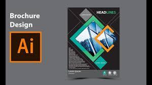 Modern Brochure Design Modern Brochure Design In Adobe Illustrator YouTube 3