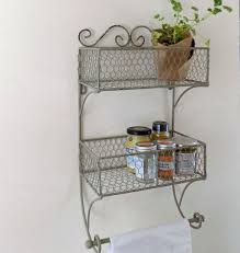 creative home design cool wire storage vintage wire double basket wall mounted storage unit within