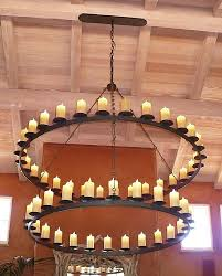 iron ring chandelier