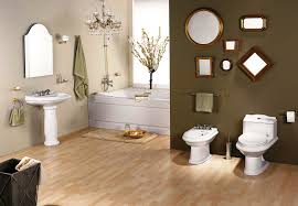 Small Picture Marvelous Large Bathroom Space Feat Awesome Brown Accents Wall