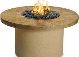 round sandalwood sedona by lynx 44 inch round propane ice n fire pit