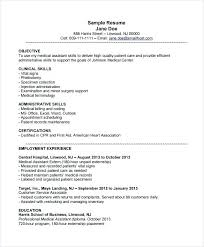 Free Medical Assistant Resume Template Amazing Generic Combination Medical Assistant Resume Template Ma Definition