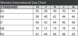 International Women S Size Chart International Size Chart