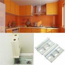 2pcs wall overhead cupboards hanger plate kitchen cabinet hanging brackets