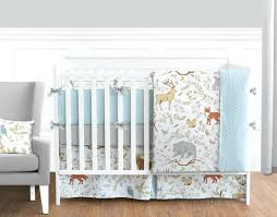 baby boy bedding sets for cribs woodland animal baby boy or girl bedding crib set by