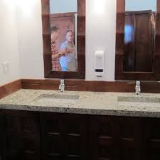 one of the diy bathroom countertops