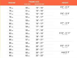 Bike Size Chart Inches Bike Size Chart How To Choose The Right Bicycle Sarah