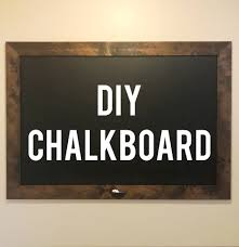 picture of diy framed chalkboard