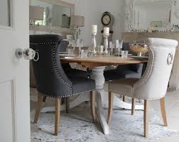 interesting dining room guide eye catching olson ring back studded black dining chair ring back